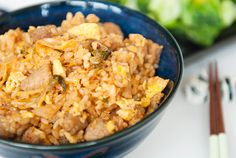 An enticing recipe for kimchi fried rice, handy now that Solomon's Market on Benefit St. is closed :(