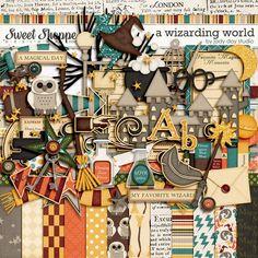 Digital Scrapbooking Kit: A Wizarding World by Jady Day Studio