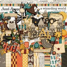 Digital Scrapbooking Kit: A Wizarding World by Jady Day Studio