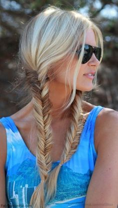 Perfect summer hairstyle - fishtail braids