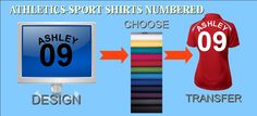We do Numbering in your Athletics Uniforms