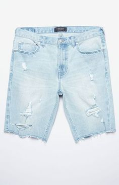 Showcase your cool, laidback side with help from the PacSun Skinny Destroyed Cutoff Denim Shorts. These vintage-inspired bottoms have a light wash, a traditional five-pocket design, and destroyed detailing throughout for an edgy lived-in look.      Denim cutoff shorts  Custom PacSun logo patch and hardware  Destroyed detailing  Traditonal 5-pocket design  Button zip-fly closure  Frayed hem  Skinny fit  Machine washable  99% cotton, 1% spandex