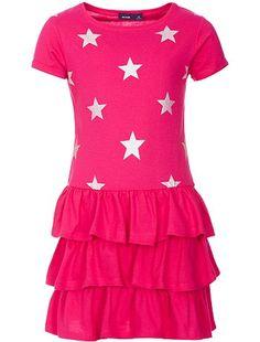 Vestito rosa stelline 10€  dress  girl  kiabi  stars Vestito Dalla Ragazza d1591354a9ba