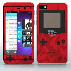 Red Flames Video Game Designer Device Video game device pattern with flames phone skin sticker for Cell Phones / Blackberry Z10 | $7.95