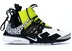 Buy and sell authentic Nike Air Presto Mid Acronym Dynamic Yellow shoes and thousands of other Nike sneakers with price data and release dates. Taupe Shoes, Yellow Shoes, Nike Presto, Yeezy Sneakers, Sneakers Nike, Nike Air, Nike Training Shoes, Nike Shoes, Shoes