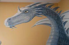 Dragon Bedroom Mural (detail), acrylic on wallboard, © Peter K. Engelsmann
