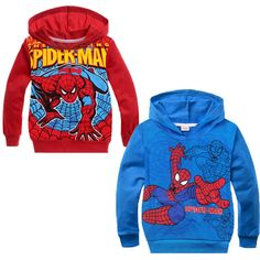 3T-8T Baby Boys Hoodies Coat Spiderman Sport Sweatshirts Jumper Autumn Outwear #Unbranded