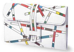 Free downloadable Hermes bag. Just print, cut, fold, and glue. Pick Up Sticks design!