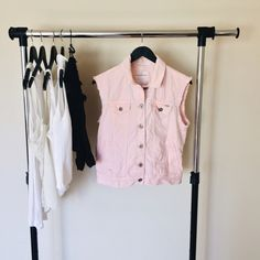 Bullhead Pink Denim Vest Pink denim vest from Pacsun. The vest is in great condition, but it does have faint marks on the back. I will upload pictures later today.  Pet friendly home Feel free to ask any questions! Bundle 2+ items for additional 10% off PacSun Jackets & Coats Vests
