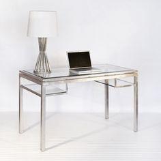 Glass desk for Home Office.
