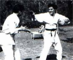 Elvis at his Perugia Way home in L.A. in March 1961 learning karate (4)