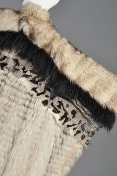 Avant Garde Woven Fox Fur + Mongolian Lamb Coat | BUSTOWN MODERN
