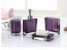 Purple Bathroom Soapdish ~ Http://makerland.org/the Royal Purple Bathroom  Sets/ | The Royal Purple Bathroom Sets | Pinterest | Purple Bathrooms, Lilac  ...