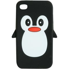 Rubber Penguin Phone Case ($8.50) ❤ liked on Polyvore