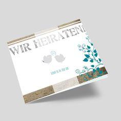 Die Vögel zwitschern die fröhliche Botschaft & laden somit zur Hochzeit ein. Eine süße Hochzeitkarte, die in Kombination mit der Holzoptik absolut stylisch ist. Weddings, Bunting Bag, Card Wedding, Marriage Anniversary, Ideas, Bodas, Hochzeit, Wedding, Marriage