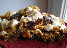 Brownie meets smores!!!!