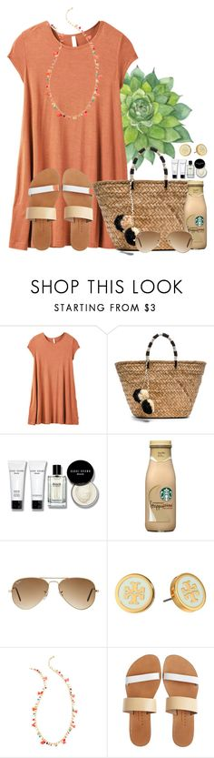 """""""Shopping on the boardwalk"""" by auburnlady ❤ liked on Polyvore featuring RVCA, Kayu, Bobbi Brown Cosmetics, Ray-Ban, Tory Burch, Lilly Pulitzer and Isapera"""