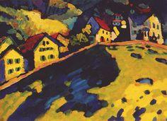 Houses at Murnau by Wassily Kandinsky