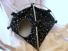 Twinkly Stars Large Tent Sleep Sack Bed for Hedgehogs Rats Guinea Pigs Ferrets. $18.00, via Etsy.