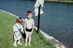 11. Vintage summer picture: My brother and I at Lake Chickamauga, late 1960s.