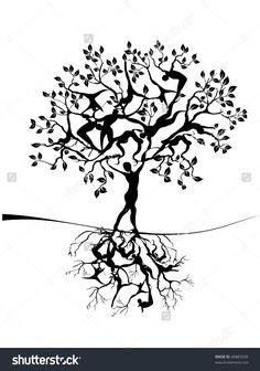 Tree Of Life Ilustración vectorial en stock 46887034 : Shutterstock Tree Of Life Images, Tree Of Life Art, Tree Art, Nature Decor, Nature Crafts, Nature Tree, Logo Vert, Tree Tattoo Designs, Tattoo Tree