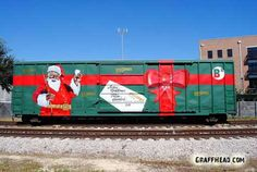 Christmas graffiti on a train - Go figure!