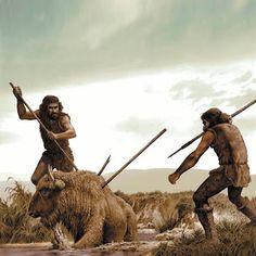 El Homo Sapiens cazó y comió al Neanderthal. Prehistoric World, Prehistoric Creatures, Cro Magnon, Ancient Art, Ancient History, Era Paleolítica, Ages Of Man, Early Humans, Human Evolution