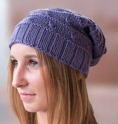 Knots Slouchy Hat Free Knitting Pattern and more free slouchy hat knitting patterns Beanie Knitting Patterns Free, Loom Knitting, Knit Patterns, Free Knitting, Fingerless Gloves Knitted, Knitted Hats, Knit Art, Slouchy Hat, Knit Crochet