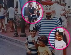 A married couple from Boynton Beach, Fla., Alex and Donna Voutsinas, realized years later that they were coincidentally photographed together at Disney as children. #disney #disneyfunfacts Smallworldbigfun.com