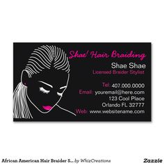 54 best african american business card designs images on pinterest african american hair braider salon business card colourmoves