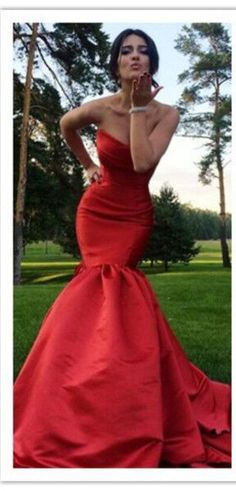 0be42f80ab Sexy Mermaid Prom Dress Red Prom Dresses Sweetheart Long Evening Dress  Party Dress sold by bettybridal. Shop more products from bettybridal on  Storenvy