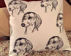 Daschund throw pillow cover, Daschunds, Doxies, dogs, pillows