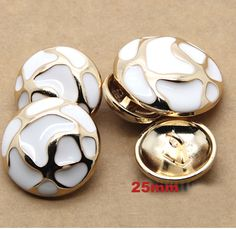 25mm Fashion gold color with white oil design buttons,shank button for garment, sewing button,scrapbooking(ss 3330)-in Buttons from Apparel & Accessories on Aliexpress.com | Alibaba Group
