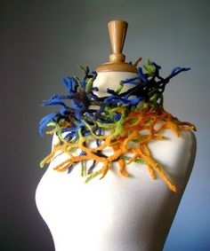 Looks like something under the sea - very cool! Diary of a Gallery Girl: Felted Art Scarves by Svitlana