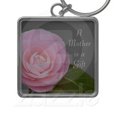 Spring Pink Rose Mother's Day keychain