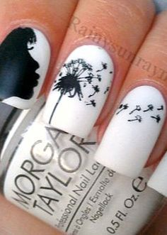 Blowing away dandelions on nails--spectacular details!