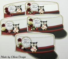 Olivias Loveletters Owl Punch, Owl Crafts, Mini Albums, Lunch Box, Student, Cards, Inspiration, Graduation, Sew