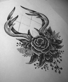 Tattoos cost Hörner Rose - Diy tattoo images - Tattoo Designs for Women Tattoo Foto, Et Tattoo, Tattoo Style, Tattoo Life, Piercing Tattoo, Back Tattoo, Tattoo Quotes, Gray Tattoo, Tattoo Thigh
