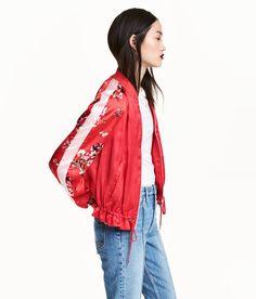 Satin Bomber Jacket | Red | Women | H&M US