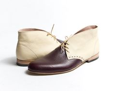 1920's vintage-inspired, custom made, two-tone desert boots - awesome!