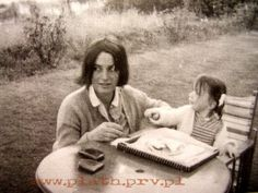 Assia and her daughter a couple of years before her suicide.