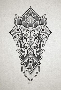 Tattoo designs that you want to put everywhere on you - Tattoos Models Mandala Tattoo Design, Tattoo Designs, Tattoo Design Drawings, Mandala Drawing, Tattoo Sketches, Tattoo Ideas, Buddha Tattoo Design, Art Designs, Elephant Head Drawing