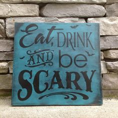 black and teal halloween signs - Google Search