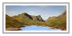 Lake District Paintings in oils, watercolours and acrylics to buy from the online shop of Scottish Landscape Artist Sandra Hugill Landscape Paintings, Sea Paintings, Three Sisters, Scottish Highlands, Lake District, Castle, Watercolor, Wall Art, Gallery