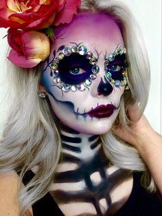 Sugar Skull   Día de los Muertos youtube.com/brimariefox