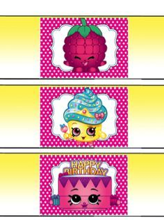 Free Shopkins Birthday Party Water Bottle Printables