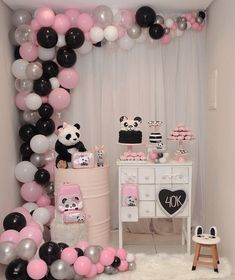 such a cute pink panda party -See more Panda Party ideas on B. Lovely Events