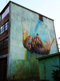 Manos - by Coas Interactive Art, Street Art Graffiti, Mural Art, Outdoor Art, Street Artists, Community Art, Public Art, Graphic Illustration, Illustrations