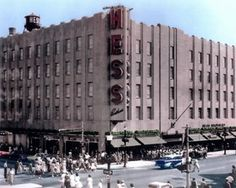 Hess Brothers Department Store where you could have your lunch and see a fashion show at the same time!