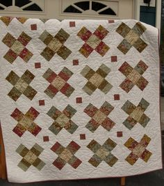 Quilt Pattern  - Baby to King sizes - Jelly Roll - Layer Cake - Charm Square - Fat Quarter - Gracie Square   PDF. $9.00, via Etsy.  Wild Rose Jelly Roll